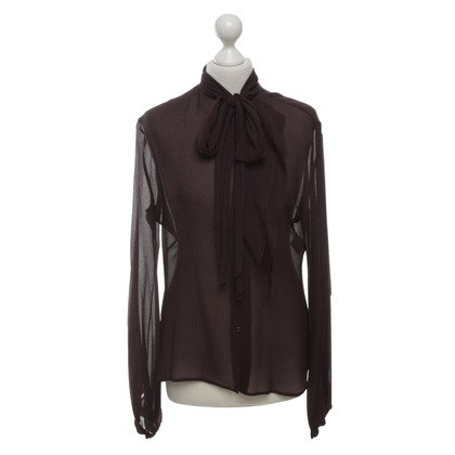 Hermès Silk blouse in eggplant