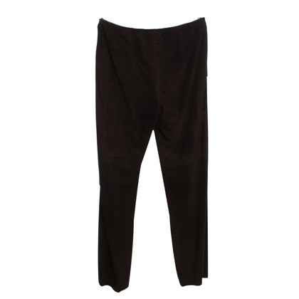 Donna Karan Suede broek in bruin