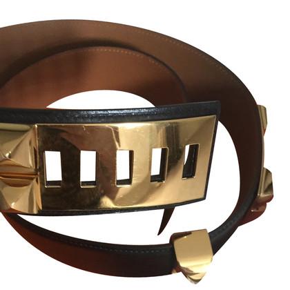 Hermès Hermes ceintuur collier chevre