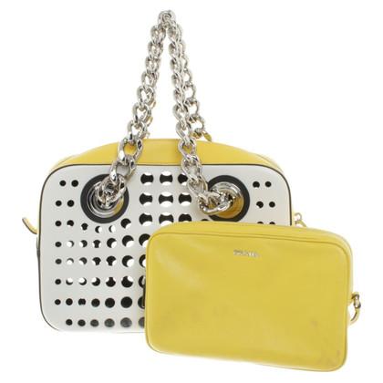 Prada Handbag in white / yellow