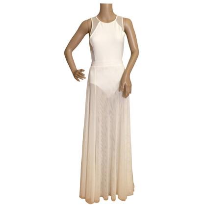 DKNY Maxi-jurk in stretch-jersey en mesh