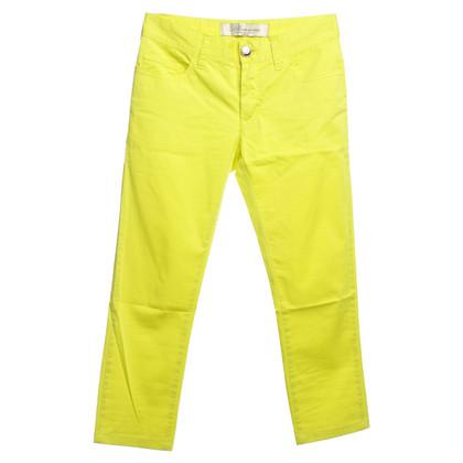Blumarine pantaloni Capri in giallo neon