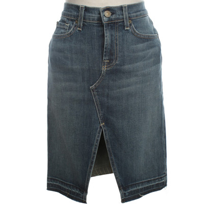 "7 For All Mankind ""Roxy"" skirt in blue"