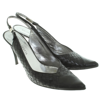 Bottega Veneta Slingback-Pumps in Schwarz