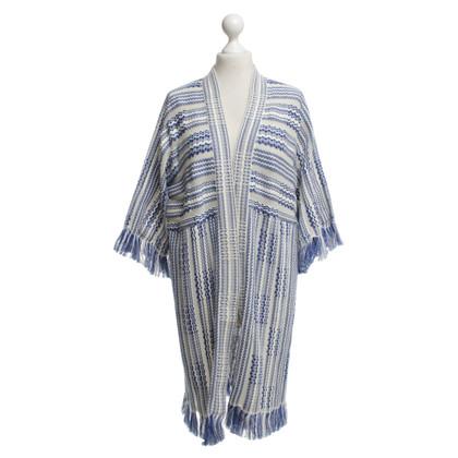 Tory Burch Kimono in blauw / crème