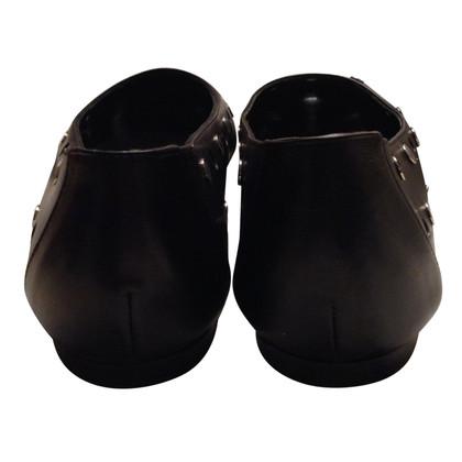 Hermès Ballerine zwart leer