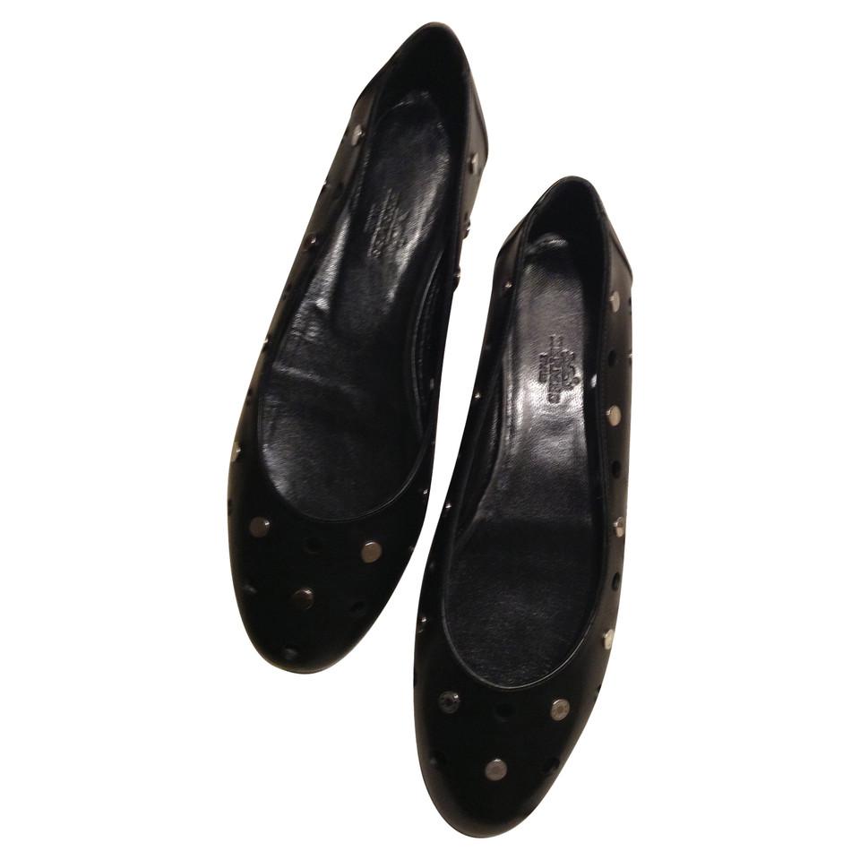 Hermès Black leather ballerinas