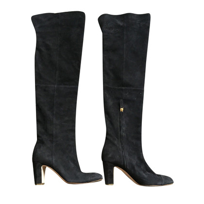Chanel Chanel nubuck thigh boots
