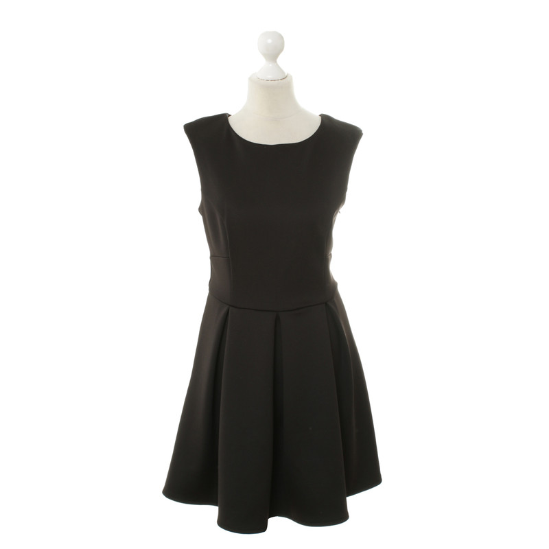 Hand heart sign black and white dresses