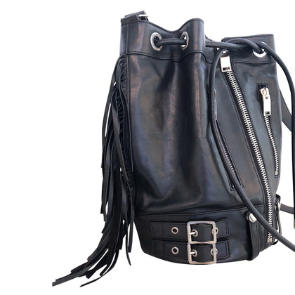 Saint Laurent Rider Medium Fringe Bucket tas