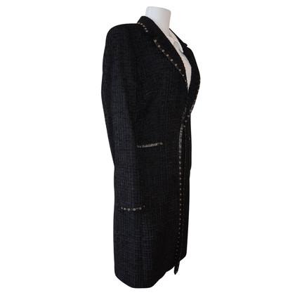 Escada Black coat in boucle