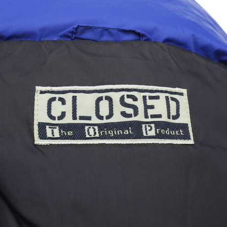 in Closed Royalblau Closed Blau Daunenweste Daunenweste 8tnSqq