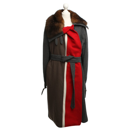 Ferre Long coat with real fur collar
