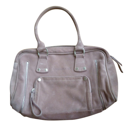 Longchamp Handbag made of pink rough leather