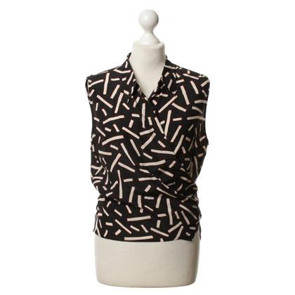 René Lezard Zijden blouse met patronen