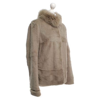 Max Mara Fur jacket in beige