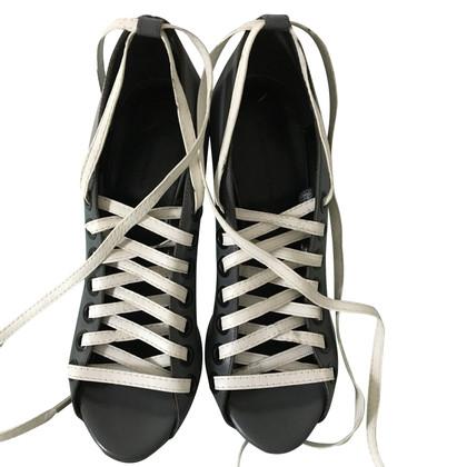 Balenciaga grey heels