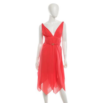 Emilio Pucci Silk dress in coral red