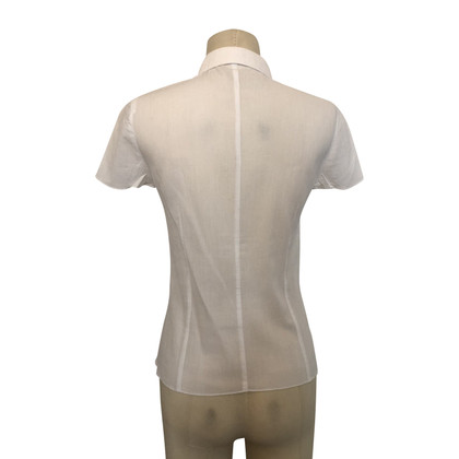 Cacharel Blouse met korte mouwen in wit