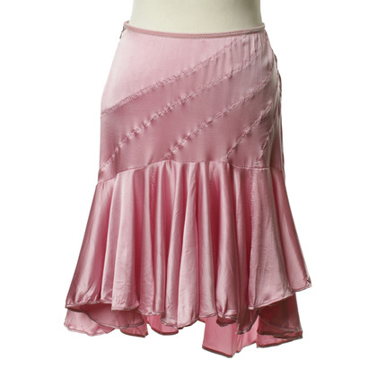 Just Cavalli Silk skirt in pink
