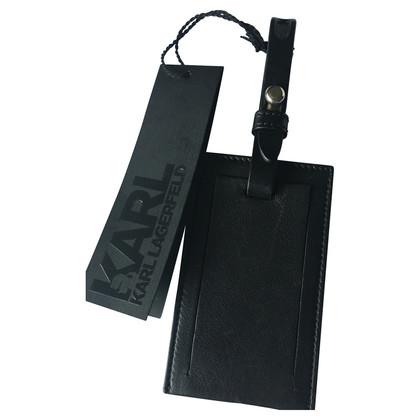 Karl Lagerfeld Address tag in black
