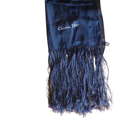 Christian Dior Zijde blauwe sjaal