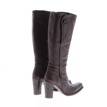 Ermanno Scervino Brown leather boots