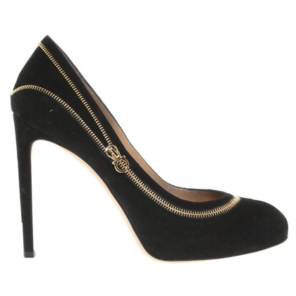 Salvatore Ferragamo Wildlederpumps in Schwarz