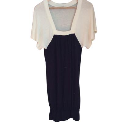 Maje korte zwarte en witte jurk