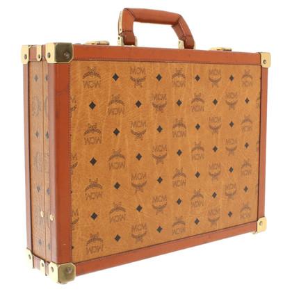 MCM Briefcase in Cognac-Brown