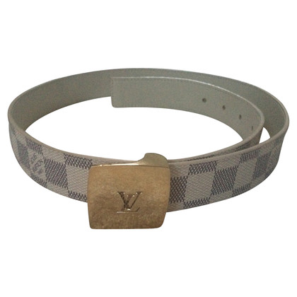 Louis Vuitton Belt from Damier Azur Canvas