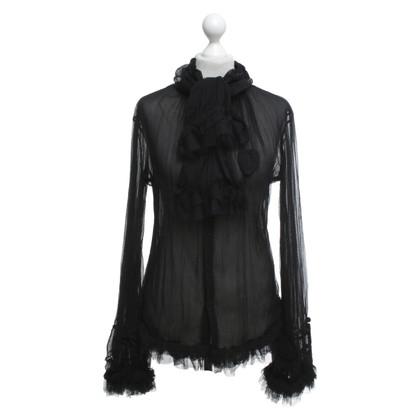 Jean Paul Gaultier Blouse en noir