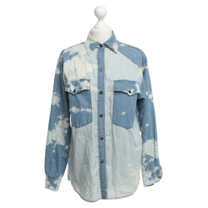 Isabel Marant Camicia in denim con Batikprint