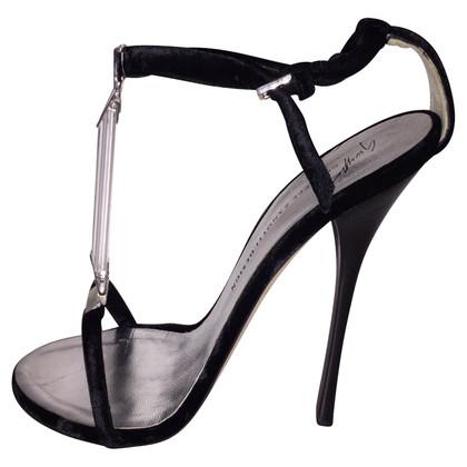 Giuseppe Zanotti Velvet sandals