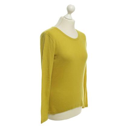 Loro Piana overs en cachemire en jaune