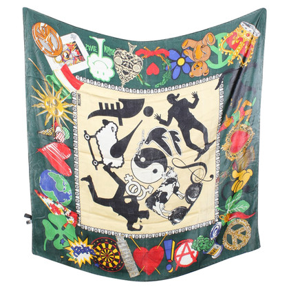 Moschino Silk scarf with pattern