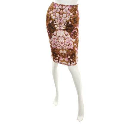 Alexander McQueen skirt with floral print
