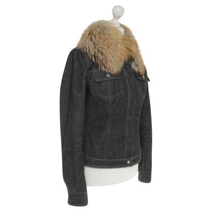 Dolce & Gabbana Denim jacket with fur trim