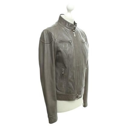 Oakwood Leather jacket in grey