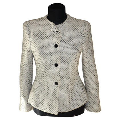 Armani Collezioni giacca di tweed in crema