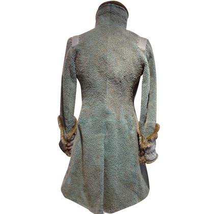 Ermanno Scervino Lambskin coat with mink trim