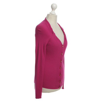 Escada cardigan a costine in rosa