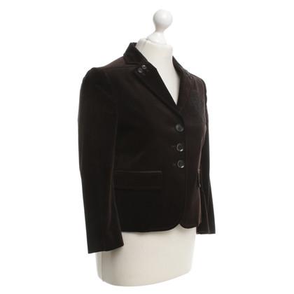 Gucci Velvet blazer in bruin