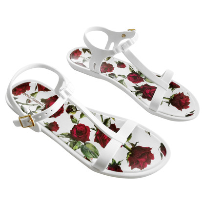 Dolce & Gabbana Sandals with red roses