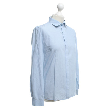 Max Mara Blouse in Blauw / Wit