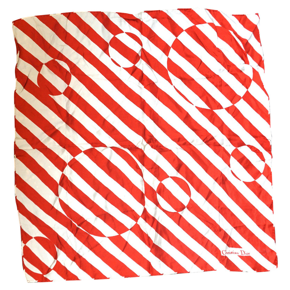 Christian Dior Silk scarf with striped pattern