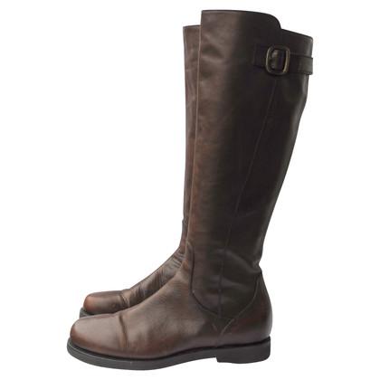 Altre marche stivali AGL scuro in pelle marrone 40