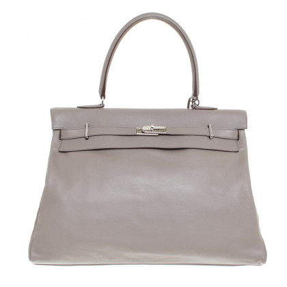 "Hermès ""Sac Kelly Travel 50 Swift Leather Etoupe"""