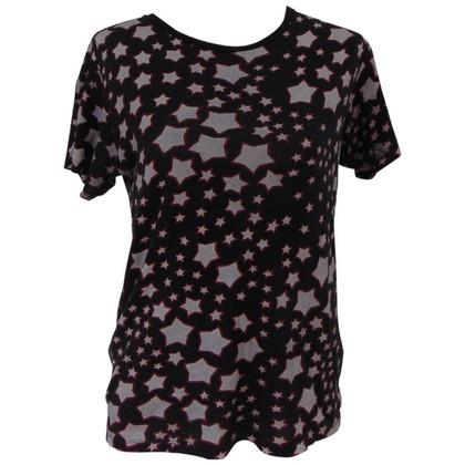 Saint Laurent Saint Laurent cotton black stars t-shirt