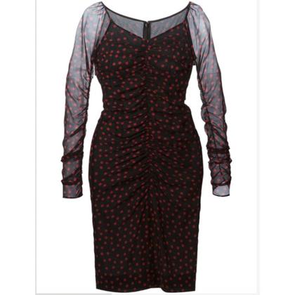 Dolce & Gabbana Silk Polkadot midi-jurk